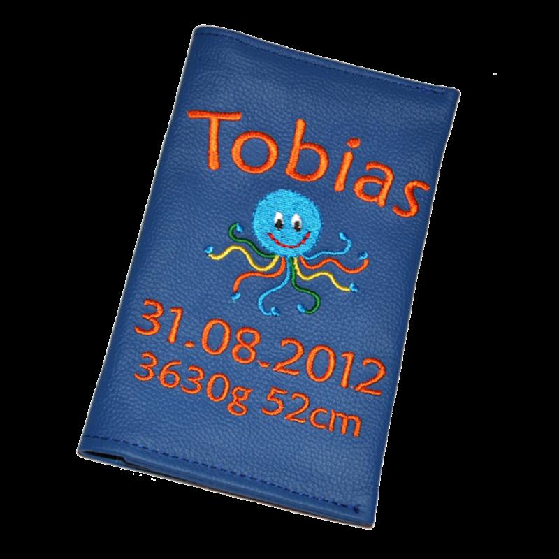 Mutterkidpasshuelle Oktopus blau