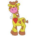 giraffe mit herz